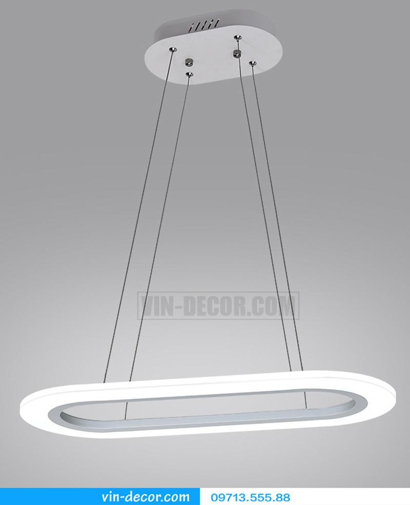 đèn thả bàn ăn led hình bầu dục 01