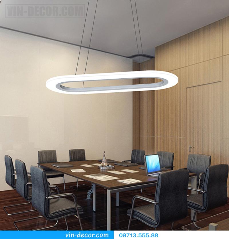 đèn thả bàn ăn led hình bầu dục 04