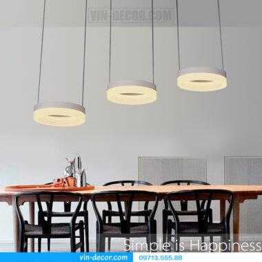 đèn thả bàn ăn led hình tròn 04