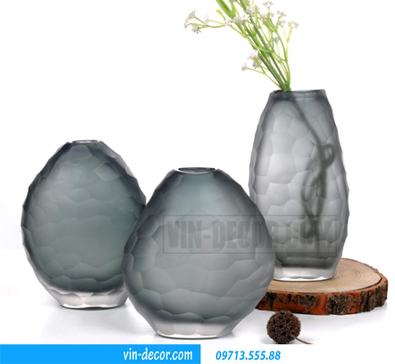 bình hoa đá cuội độc đáo V002-2