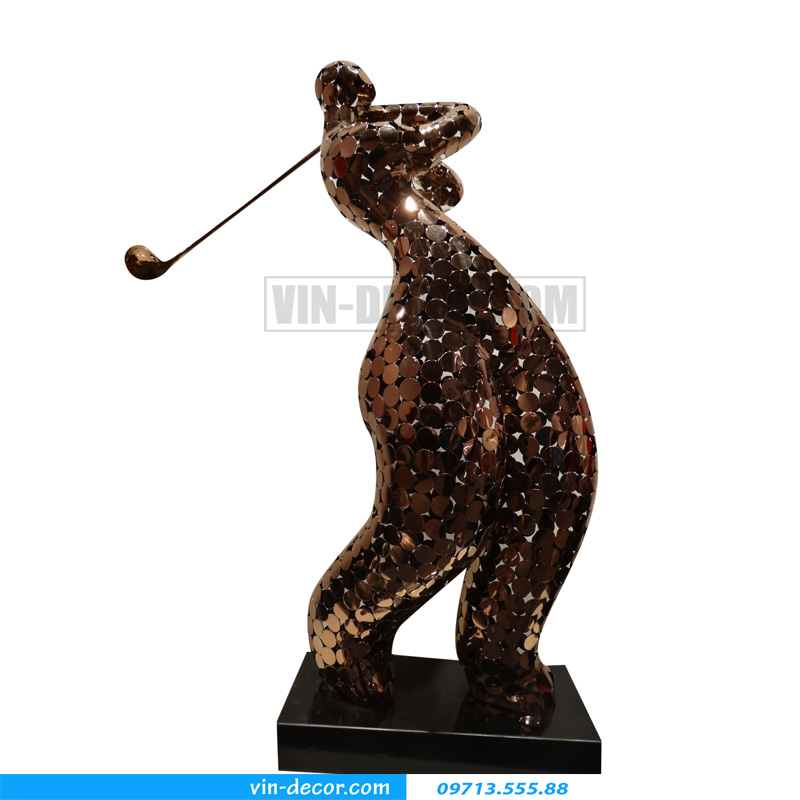tượng decor người đánh gôn bh 026 03