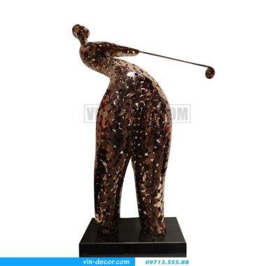 tượng decor người đánh gôn bh 026