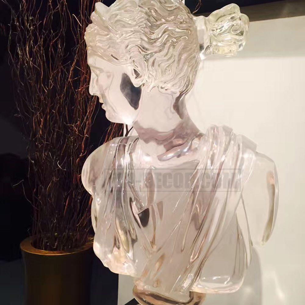 tượng trang trí nữ thần trong suốt bh 01