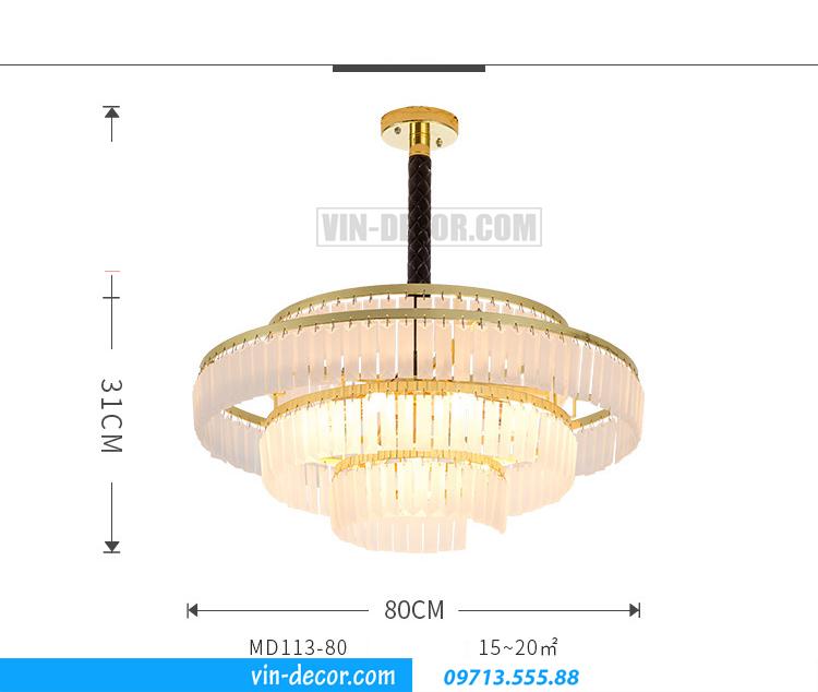 đèn chùm nghệ thuật MD 017 01