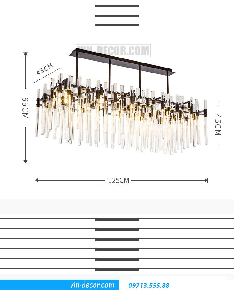 đèn chùm pha lê cao cấp MD 021 04