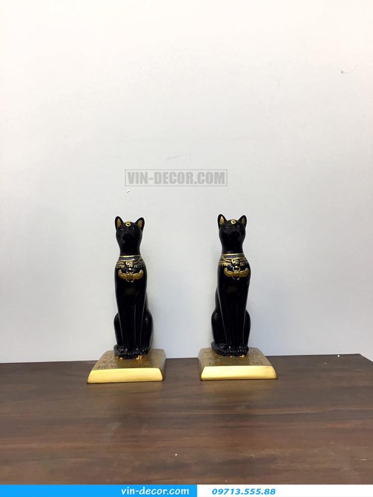 đôi mèo đen trang trí TD 015 01