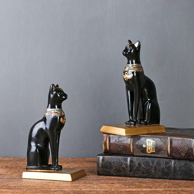 đôi mèo đen trang trí TD 015 10