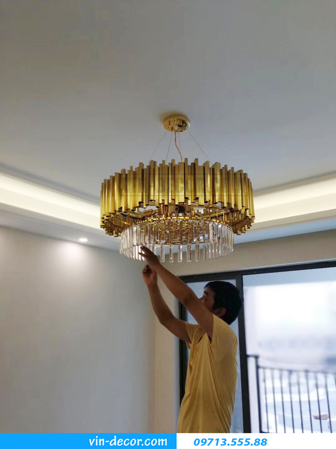 tổng hợp ác mẫu đèn trang trí nội thất chung cư ấn tượng hiện đại 04