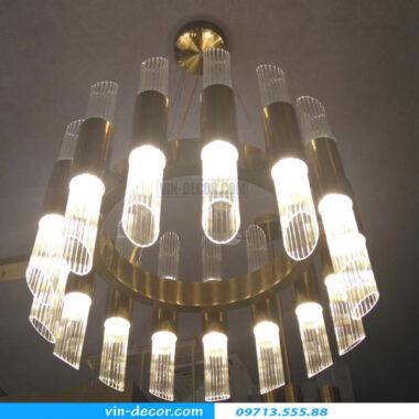 đèn chùm pha lê hình ống md 026 1