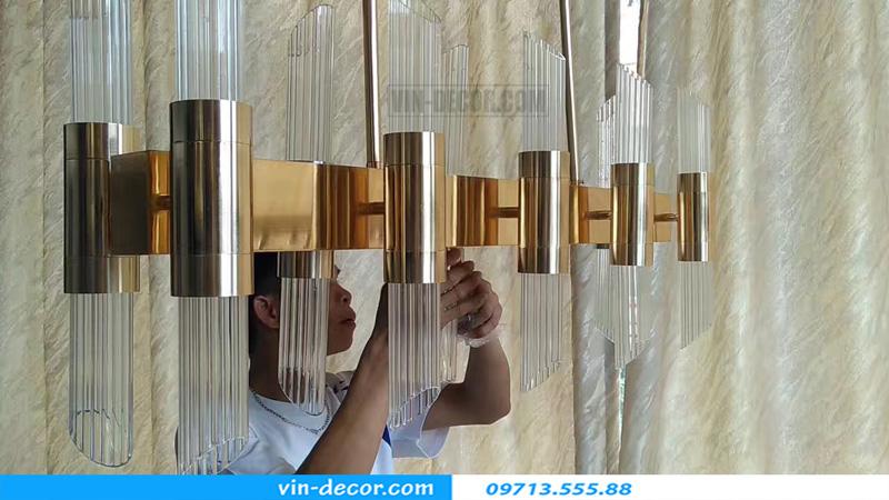 đèn chùm pha lê hình ống md 026 5