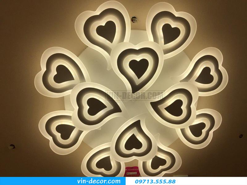 đèn led ốp trần hình trái tim ấn tượng md 1266