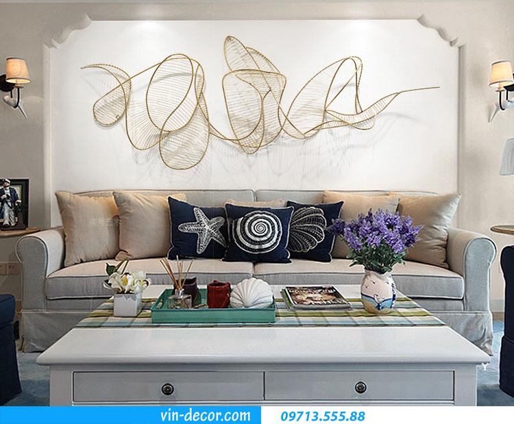 tranh decor treo phía sau Sofa TS 034 3