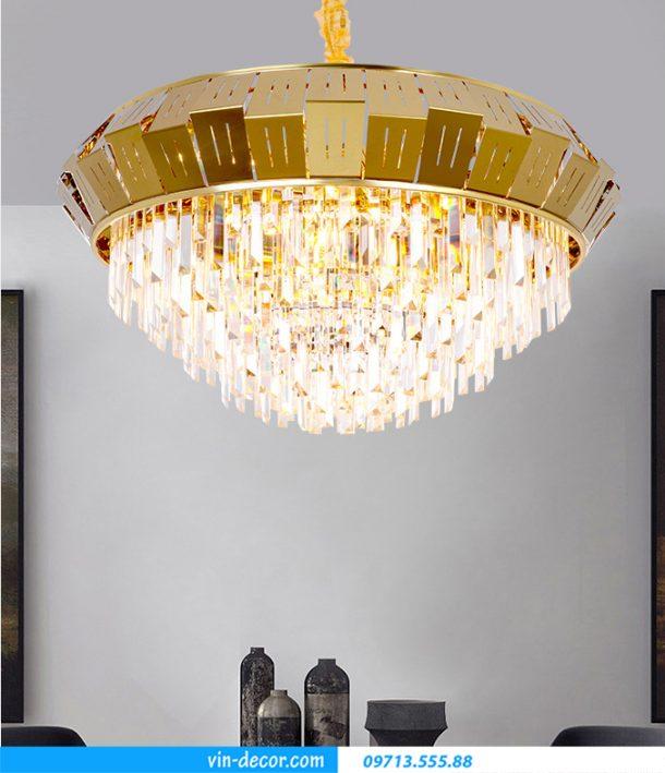 đèn chùm pha lê treo phòng khách sang trọng MD 028 01