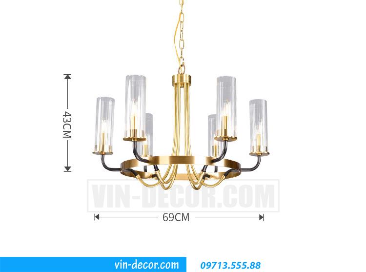 đèn chùm phòng khách pha lê tân cổ điển MD031 08