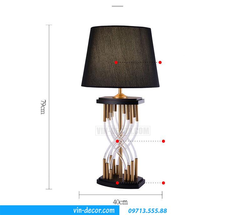 đèn bàn tab pha lê cao cấp DD 044 1