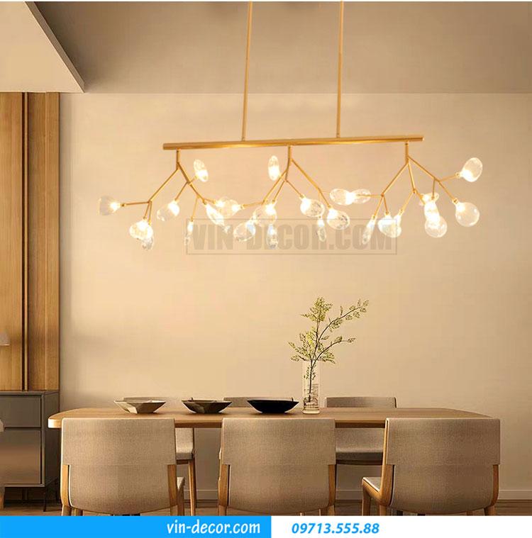 đèn pha lê thả bàn ăn MDU 006 5