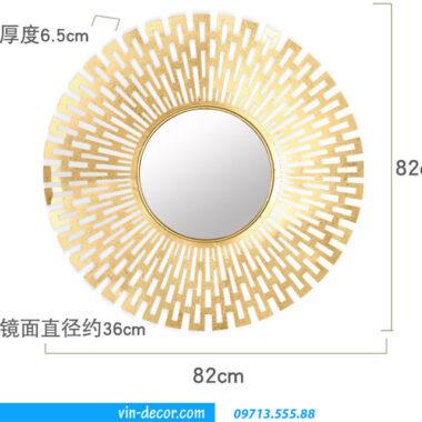gương decor mặt trời MDU 002