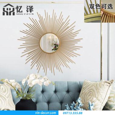 tranh gương decor phòng khách MDU 001 5