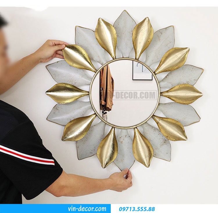 tranh sắt treo tường hoa ấn tượng MDU 005 3