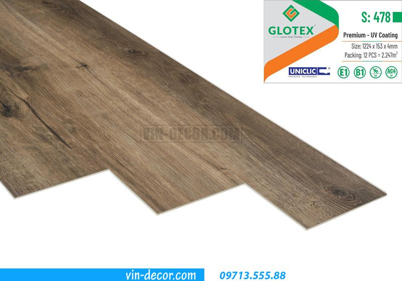 sàn nhựa hèm khóa Glotex S478 2