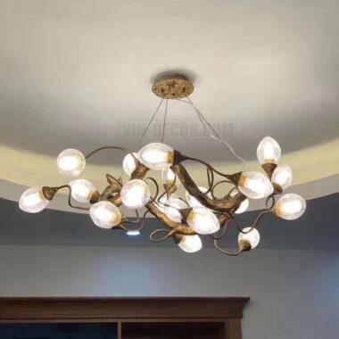 đèn chùm đồng cao cấp MDU 013 1