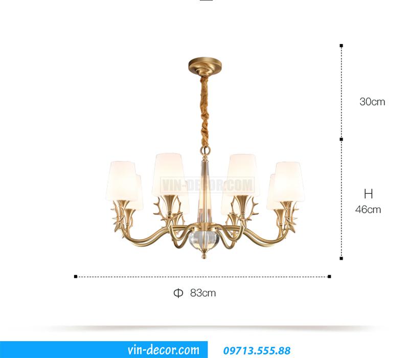 đèn chùm trang trí hiện đại sang trọng MDU 015 3