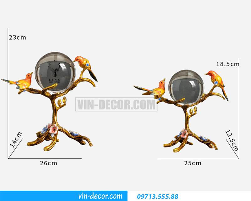 decor đôi chim uyên ương bày bàn MDU 020 5