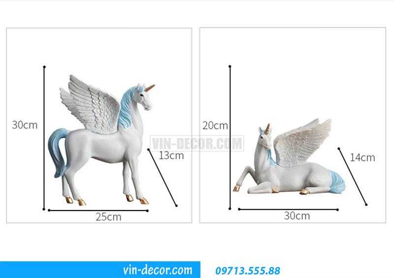decor ngựa có cánh MDU 025 5