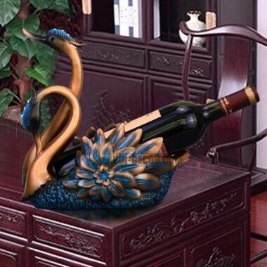 giá đựng rượu đôi thiên nga decor MDU 027 3