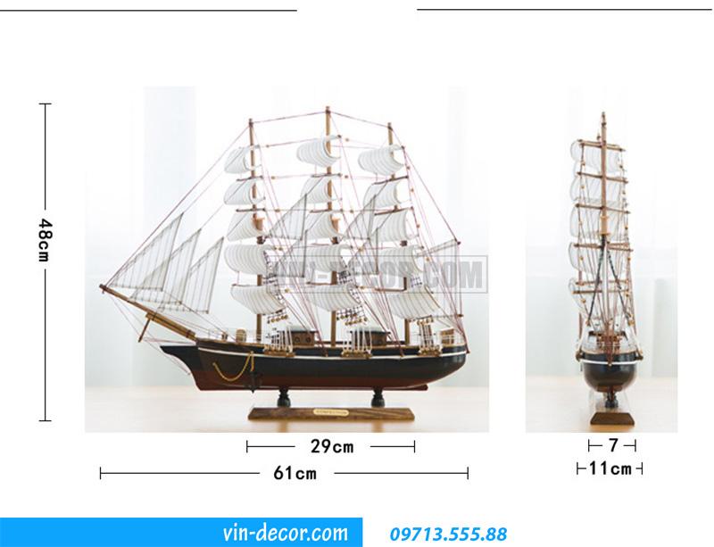 thuyền decor trưng bày MDU 032 3