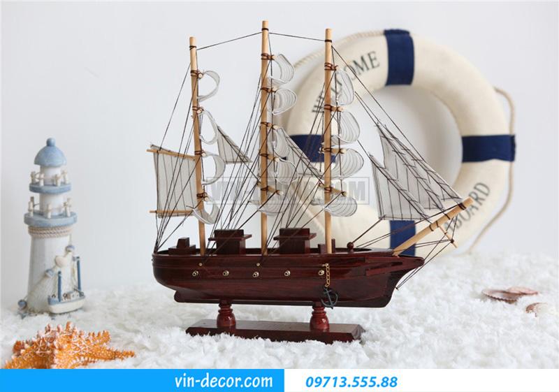 thuyền trang trí kệ KT 40cm MDU 034 1