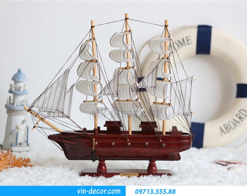 thuyền trang trí kệ KT 40cm MDU 034 2