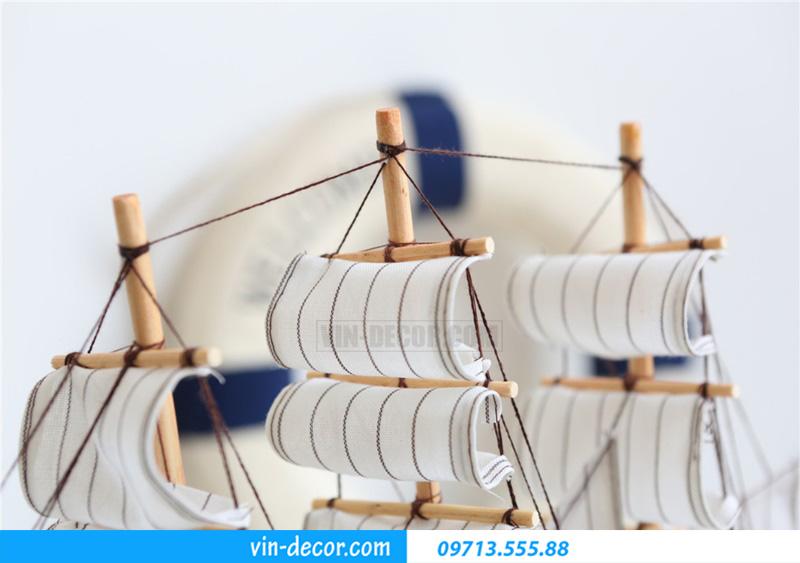 thuyền trang trí kệ KT 40cm MDU 034 3